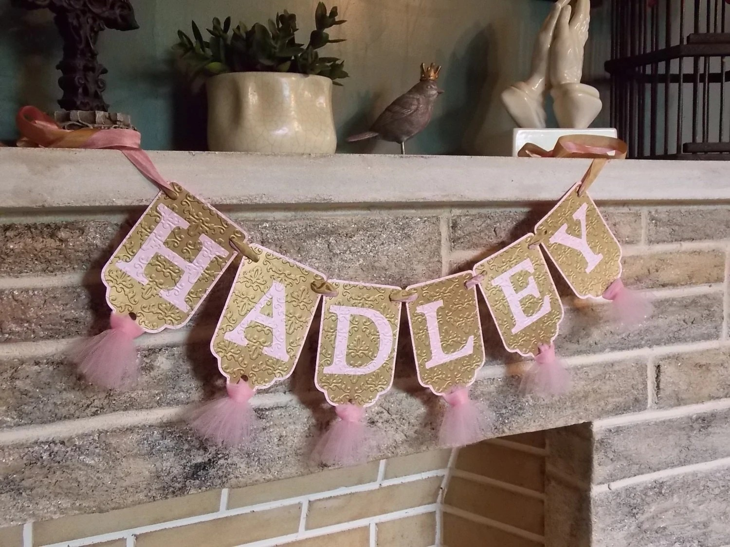 Pink And Gold Banner Etsy