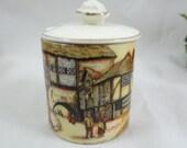 Vintage English Bone China Lancaster and Sons Jam Jar  Relish Jar