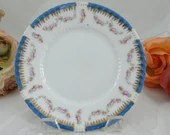 1900s Victoria Schmidt Austria Pink Rose Bread and Butter Plate