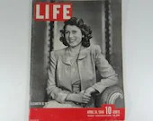 1944 Life Magazine Wartime Issue, April 24, Princess Elizabeth is 18 -War in Buma