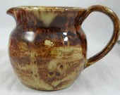 1959 Hand Made Brown Drip Glaze Creamer  Charming