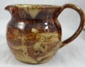 1959 Hand Made Brown Drip Glaze Creamer  Charming
