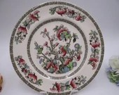 """Vintage Johnson Brothers """"The Indian Tree"""" English Bone China Luncheon Plate"""