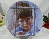 """1986 Edwin Knowles """"Dissappointment"""" Collector Plate from the Francis Hook Legacy Collectio"""