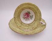 "Vintage 1910 Grosvenor English Bone China ""Dorchester"" Teacup and Saucer Set English Tea Cup"