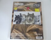 "Janlynn ""The Pack"" White and Black Wolf Counted Cross Stitch Kit #120-10 by Pegasus Originals"