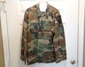 Vintage US Army Men's Parachutist Camo Jacket Chest Size 37 to 41 2nd Infantry Medium Regular