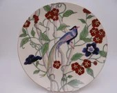 Antique Hand Painted Bird of Paradise Plate