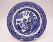 Vintage Made in England Blue Willow Ware Salad Luncheon Plate - 3 Available
