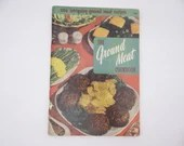 "1956 Vintage Culinary Arts Institute Recipe Booklet ""The Ground Meat Cookbook"""