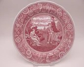 """Vintage Spode Archive Collection Cranberry Dinner Plate """"Woodman"""""""