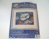 Creative Accents Dolphin Family #7874 A Counted Cross Stitch Kit - NOS - Unopened Kit
