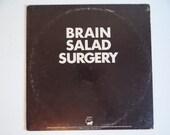 1973 Emerson, Lake & Palmer Brain Salad Surgery Manticore Records Vinyl LP Record Album with Poster Insert MC 66669 Classic Psychedelic Rock