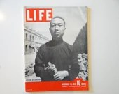 Vintage 1943 Life Magazine War Issue December 13 , Citizen of Sinkiang - Tarawa, Bombing of Berlin, Rationing