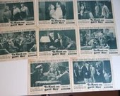 """Original 1952 Complete Set of 8 Movie Lobby Cards  """"To Have and Have Not"""" Humphrey Bogart Lauren Bacall"""