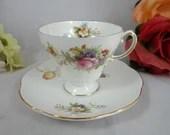 1950s Foley English Bone China Teacup Footed English Teacup and Saucer Set Elegant Tea Cup