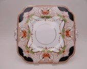Antique Royal Vale English Bone China Imari Cake Serving Plate No. 3701