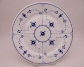 Vintage Royal Copenhagen Blue Fluted Plain Luncheon Plate
