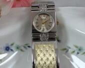 Working Elgin Galaxie Dual Tone Quartz Dress Watch Wristwatch