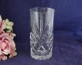 Vintage Heavy High Ball Glass Classic Style Barware Glasses  Clear Heavy Highball Glass - 3 Available