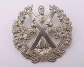 Vintage WW2 British Military Hat Cap Badge The Queens Own Cameron Highlanders Liverpool Scottish