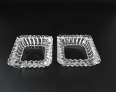 Set of 2 Vintage Glass Pieces for a Variety of Uses