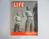 Vintage 1937 Life Magazine January 11,  Japanese Soldiers - Womens Rights - Birth Control