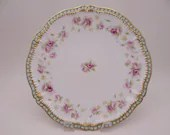 1900s Antique Theodore Haviland  Limoges France Schleiger 1060A Dinner Plate