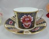 "Vintage Coalport English Bone China ""Java"" Imari Teacup and Saucer Set Stunning Tea Cup"