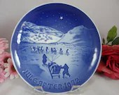 1972 Bing and Grondahl Christmas Plate Christmas in Greenland