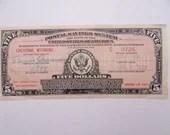 Vintage 1934 Postal Savings System 5 Dollar Certificate of Deposit Cheyenne Wyoming