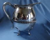 Vintage Sheets Rockford Company 1875 Silverplate Pitcher 481 ca 1925 to 1956 What a great way to serve water or use as a flower vase