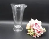 """Rare Antique 8"""" Tall Glass Measuring Cup with Spout - 50 - 100 years old- Farmhouse Decor - Vintage Decor - Vintage Kitchen Decor"""