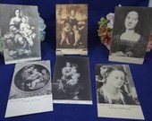 Set of 5 Vintage Turn of the Century Italian Firenze Postcards