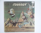 Vintage First US Issue 1975 Columbia Records Journey Self Titled  LP Vinyl Record Album PC 33388 Advanced Copy Demo Classic Rock