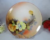 1920s Vintage Hand Painted Morimura Colorful Flower Plate
