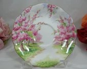 """Vintage Royal Albert English Bone China """"Blossom Time"""" Teacup Saucer"""