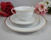 Sale 1940s Noritake Heritage 3 Piece Place Setting Tea Trio Teacup and Saucer set Simple and Elegant Tea Cup  3 Available