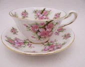 Beautiful Vintage Royal Chelsea English Bone China Teacup and Saucer set Floral Tea Cup 4289A