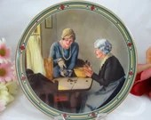 """1985 Edwin Knowles Norman Rockwell """"A Family's Full Measure"""" Collector Plate Limited Edition"""