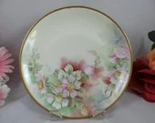 "1800s Hand Painted Artist Signed ""Stumpp"" Hutschenreuther Selb Bavarian Flower Plate - Stunning"