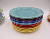 Vintage 1930s Bauer Pottery Monterey Ring ware Saucers - Various Colors
