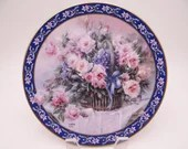 "1992 W.S. George Lena Liu Basket Bouquet series ""Roses"" Limited Edition Collector Plate"
