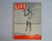 "Vintage 1940 Life Magazine Wartime Issue February 26 ""Roadside Service"" - Car Hop - Germany destroys Poland"