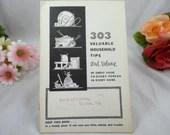 1954 303 Valuable Household Tips 2nd Volume Pamphlet
