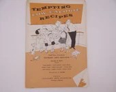 "1956 Vintage Culinary Arts Institute Recipe Booklet ""Tempting Low Calorie Recipes"" - Diet Cookbook"