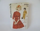Vintage Butterick Pattern #2422 - Size 11 - Women's Juniors Dress Pattern - UNCUT & Complete -1960s Vintage Sewing Dress Pattern