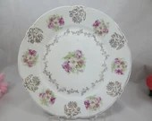 1880s Vintage Bavarian ZSC Zeh Scherzer & Co Bread and Butter Plate