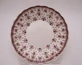 "1950s Vintage Spode English Bone China ""Fleur de Lys"" Brown Sauce or Berry Bowl"