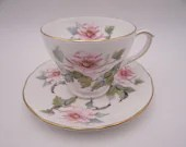 Vintage Duchess English Bone China Teacup Pink Rose English Teacup and Saucer English Tea Cup